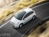 2013 Citroen C3 Facelift driving on road birds eye view image