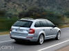 2013 Skoda Octavia Estate image rear view on road