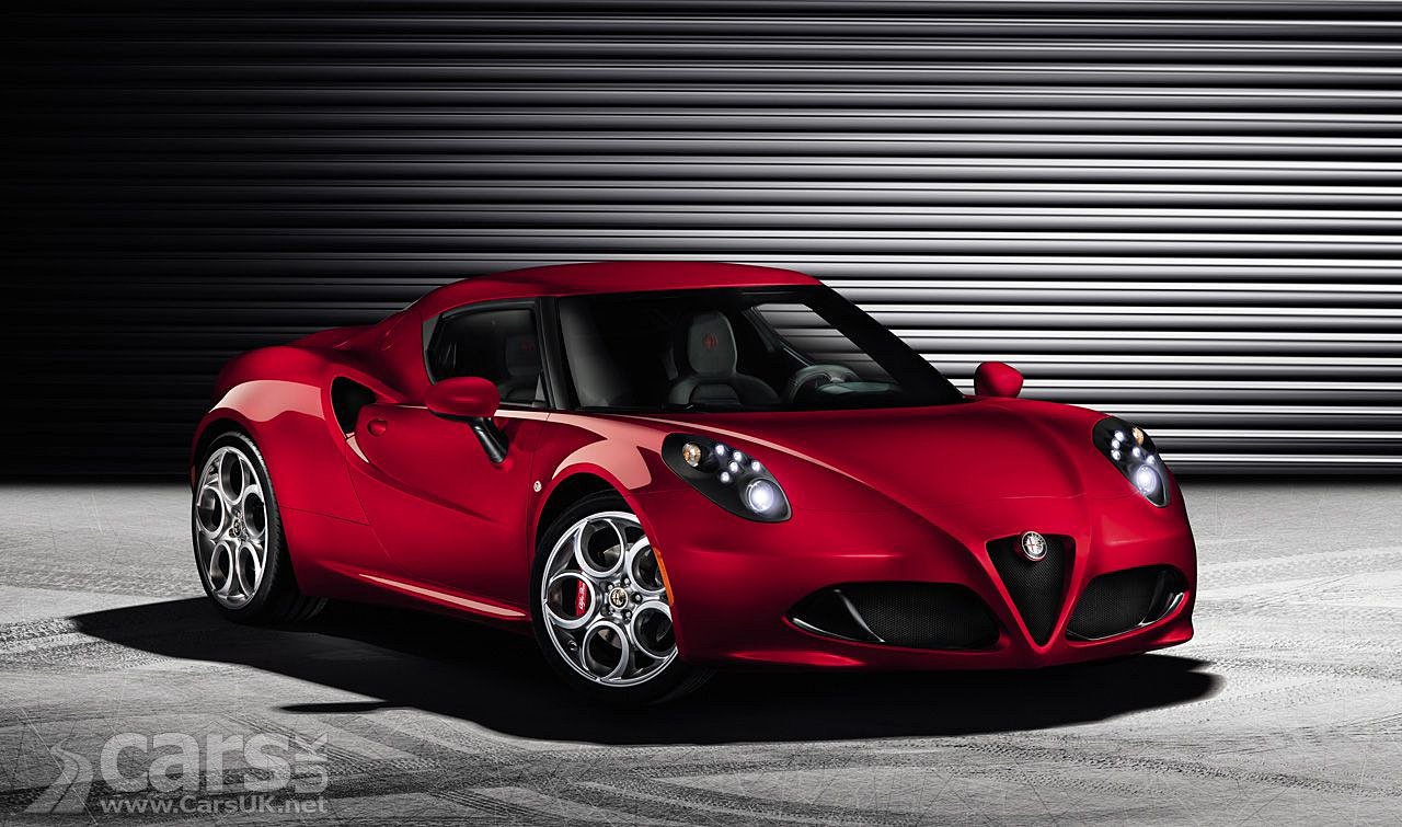 Alfa Romeo 4C production version in red front view image