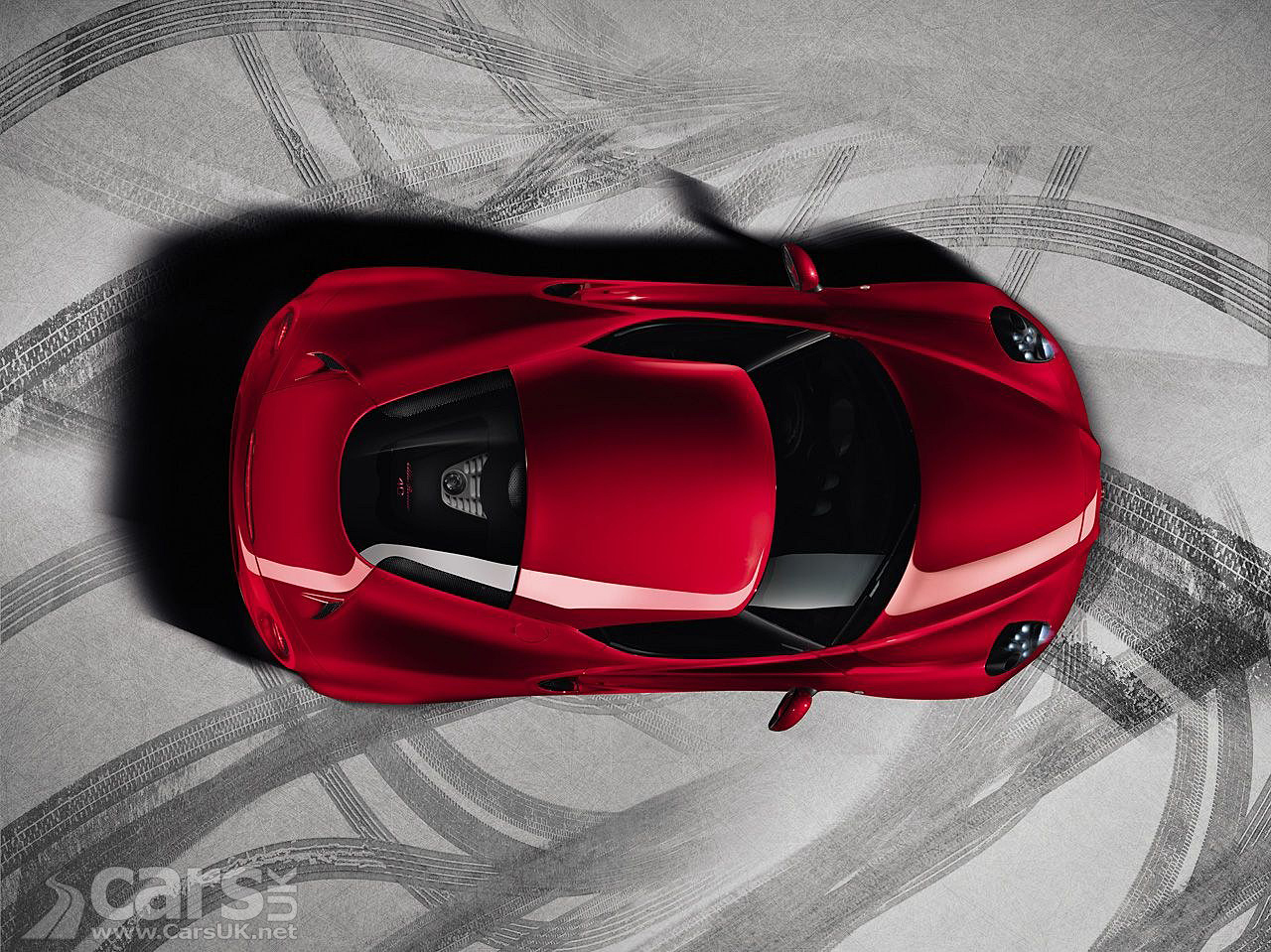 Alfa Romeo 4C production version in red top view image
