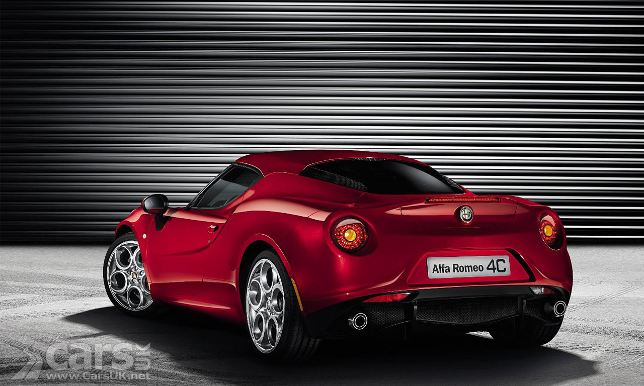 Alfa Romeo 4C production version in red rear 3/4 view image
