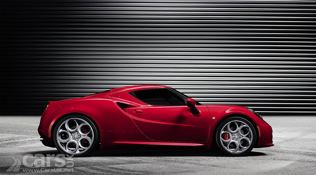 Alfa Romeo 4C production version in red side view  image