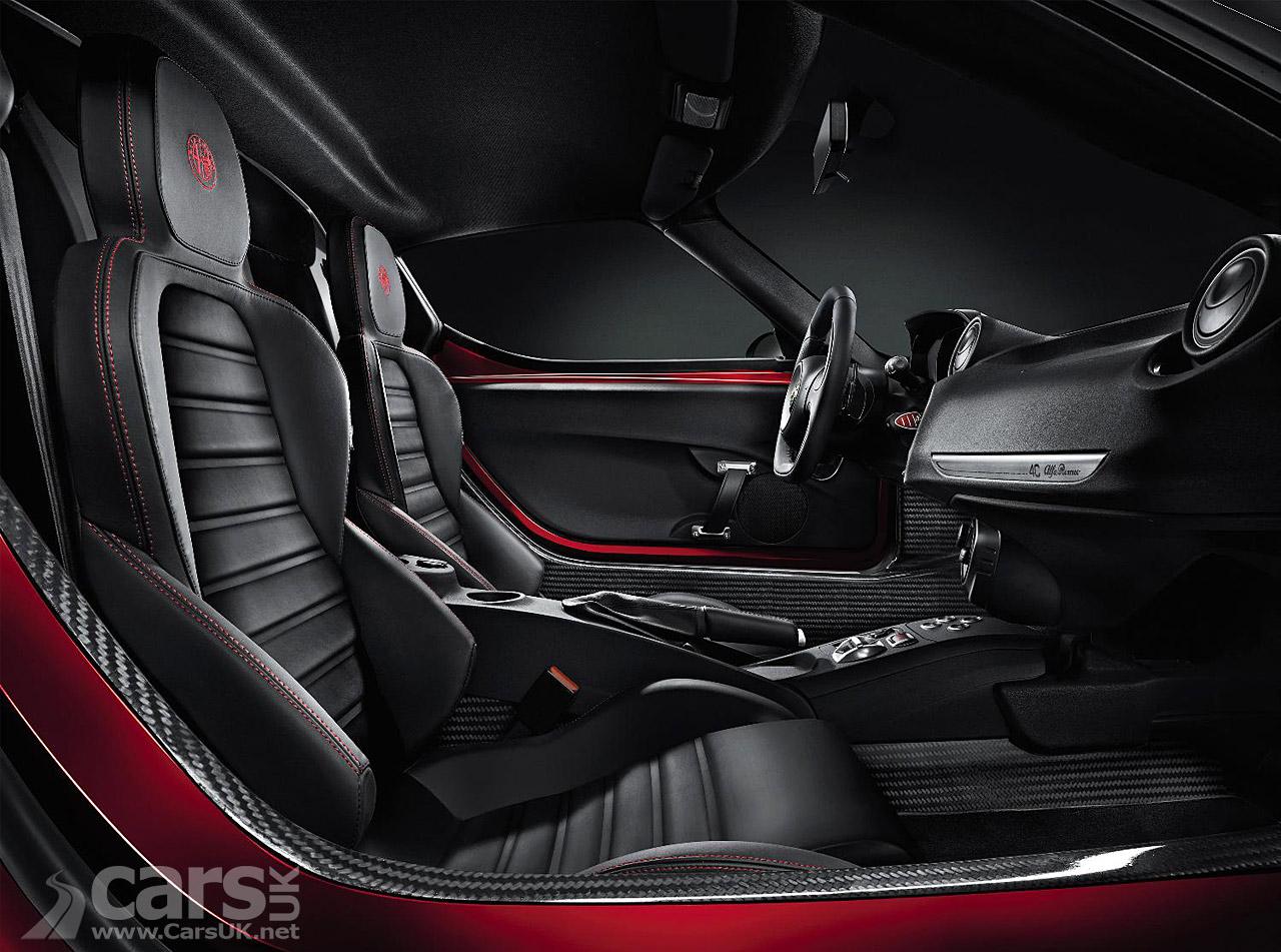 Alfa Romeo 4C production version in red interior view image