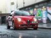 Red Alfa Romeo MiTo Live driving photo