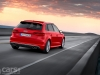 Audi S3 Sportback rear 3/4 view on road image