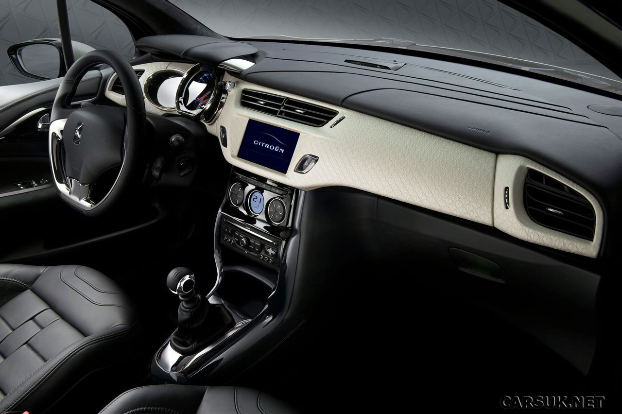 citroen ds3 interior revealed. Black Bedroom Furniture Sets. Home Design Ideas