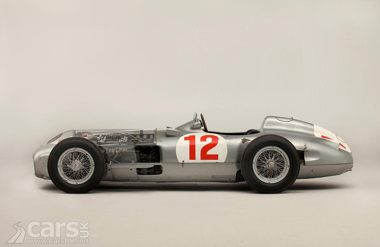 Fangio 39 s 1954 mercedes w196r f1 car pictures cars uk for Mercedes benz f1 car