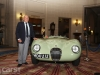 Sir Stirling Moss with Jaguar C-type XKC 005