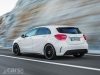 Mercedes A45 AMG rear 3/4 view on road image