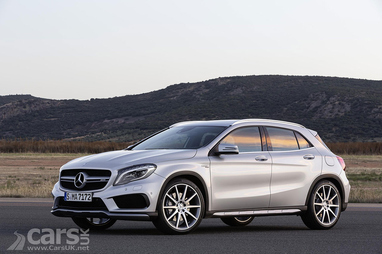 mercedes gla 45 amg pictures cars uk. Black Bedroom Furniture Sets. Home Design Ideas