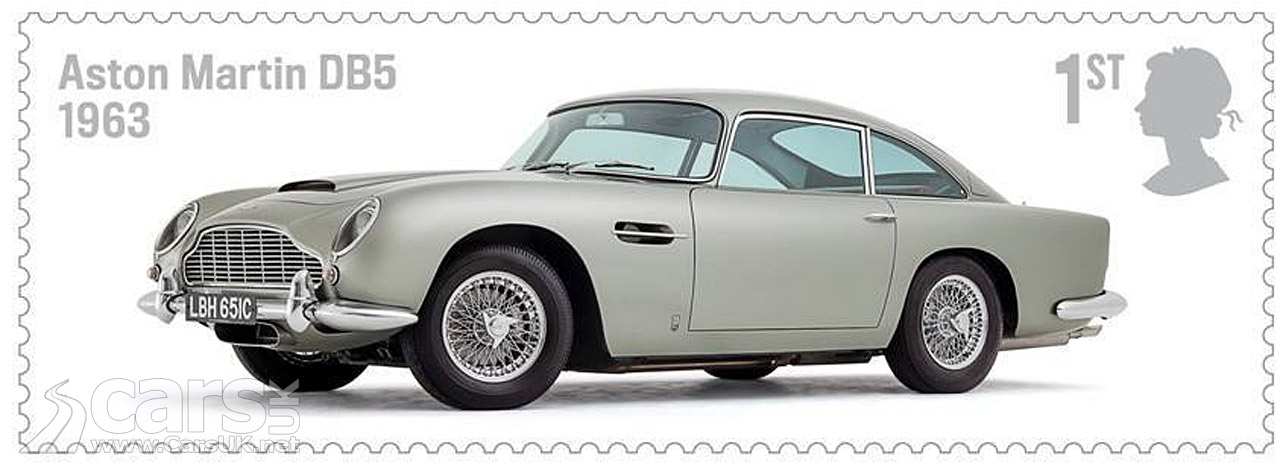 Aston Martin DB5 Stamp