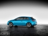 Blue SEAT Leon SC side view image