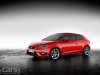 SEAT Leon SC red front 3/4 image