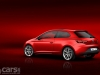 SEAT Leon SC red rear 3/4 view image
