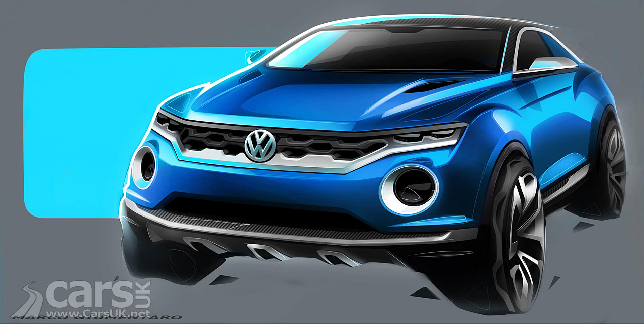 Volkswagen T-ROC SUV Concept Design Sketch Pictures   Cars UK