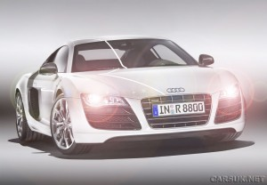 Audi R8 V10 - the first LED headlights