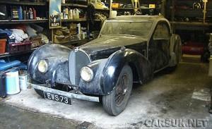 Rare Bugatti Type 57S Atalante found in a barn