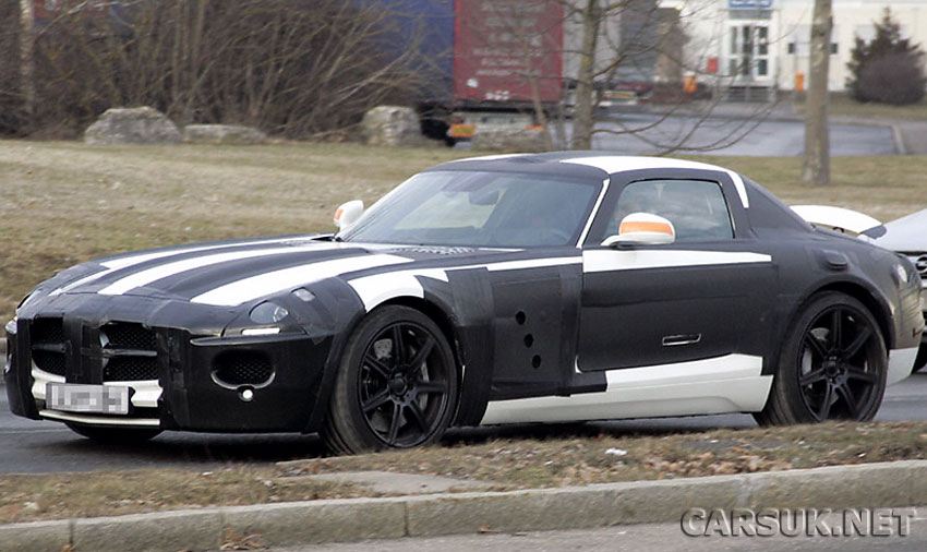 Mercedes SLC AMG Gullwing - Caught testing and due in showrooms in 2010