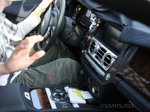 Interior of the new baby Rolls Royce - the RR4 or EX200 Concept - which will show at Geneva
