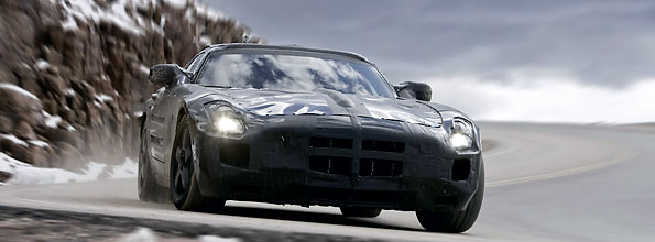 Mercedes Benz has released footage of the SLS AMG testing