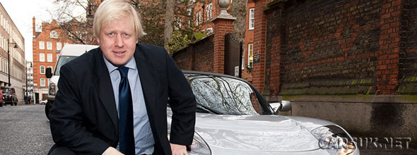 Boris Johnson (seen above with a Tesla Roadster EV) has big plans for Electric Car charging points in London