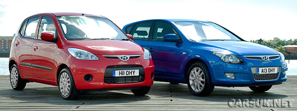 The Hyundai i10 and i30