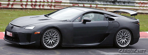 Lexus LF-A spotted out testing this week