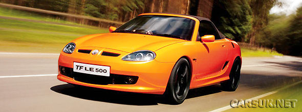 The MG TF LS500 - soon to be joined by an entry-level model and Anniversary Edition