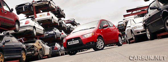 Mitsubishi are now offering the Scrappage allowance on cars from 5 years old