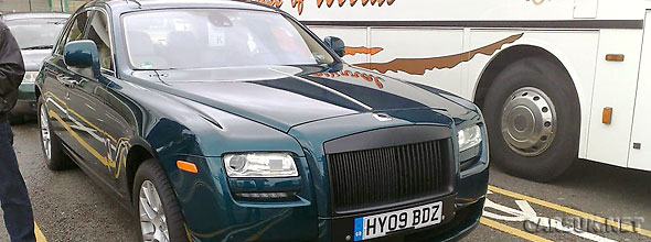 A virtually uncamouflaged Rolls Royce Ghost caught waiting for a ferry at Dover