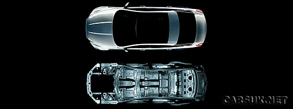 The new Jaguar XJ features a strong and light aluminium bodyshell