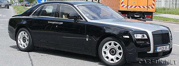 Rolls Royce Ghost virtually undisguised out testing in Germany