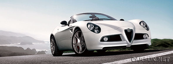 Alfa Romeo are running the Alfa 8C Spider up the Hillclimb at Goodwood