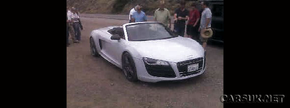 The Audi R8 Spyder - outed by an Audi dealer