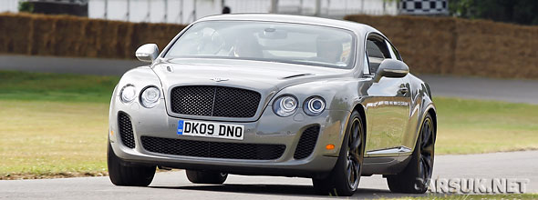 Derek Bell took the Bentley Continental Supersports up the Goodwood Hillclimb