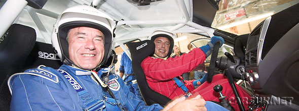 John Barrowman - Captain Jack Harkness - tackles the Sweet Lamb Rally Stage with Tiff Needell