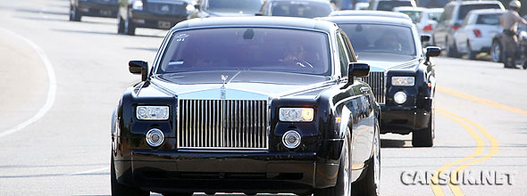 Land Rover Encino 'Product Placed' Rolls Royce and Range Rovers at the Jackson Funeral