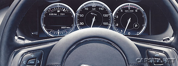 The new Jaguar XJ uses a 'virtual' instrument panel