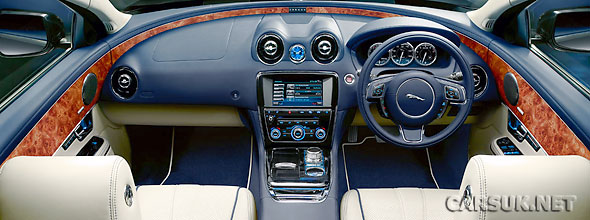 The interior of the new Jaguar XJ