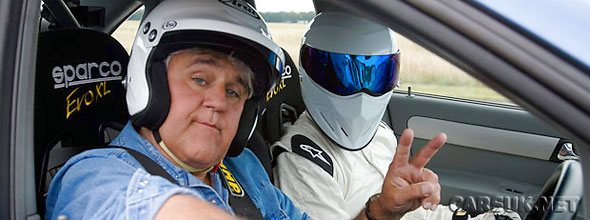 Jay Leno - petrol-head extraordinaire - is this weeks' Top Gear Star in a Reasonably Priced Car
