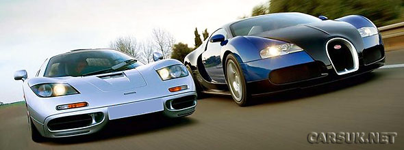 McLaren F1 vs Bugatti Veyron - the Top Gear Video