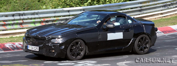 The next generation (2012) Mercedes SLK caught testing at the Nurburgring