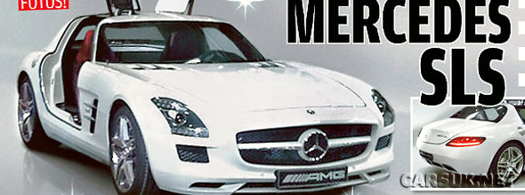 First leaked picture of the Mercedes SLS AMG Gullwing