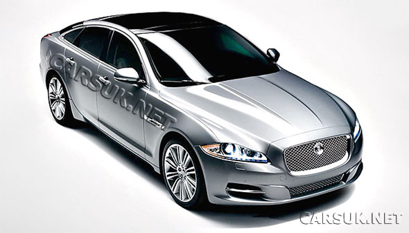 The first leaked image of Jaguar's new XJ - launches tonight