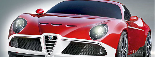 Alfa Romeo are planning a hard-core version of the 8C - the Alfa Romeo 8C GTA