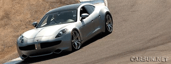 The Fisker Karma out testing at Laguna Seca