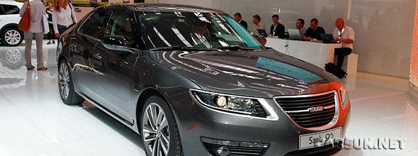 The Saab 9-5 revealed at Frankfurt