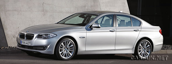 The new 2010 / 2011 BMW 5 Series (pictured). There will be an ActiveHybrid version at Geneva