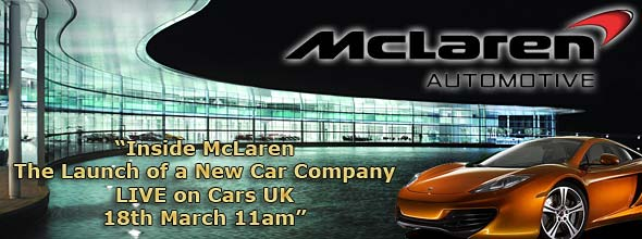The McLaren Press Conference Live on Cars UK