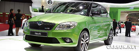 Skoda Fabia vRS & Skoda Fabia vRS Estate (2010) revealed